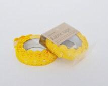 Nastro Adesivo di pizzo giallo / Lace Fabric Tape Yellow