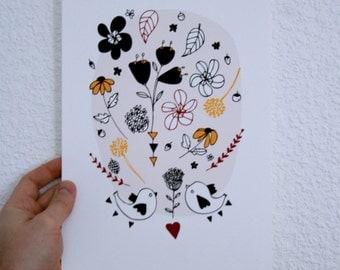 Print - Bouquet-