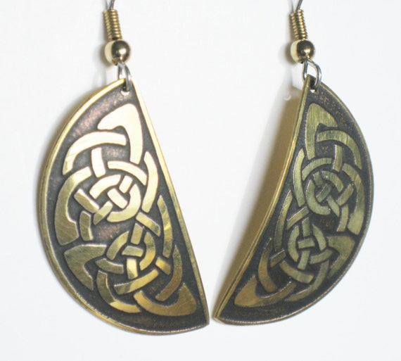 celtic knot earrings jewelry vintage by