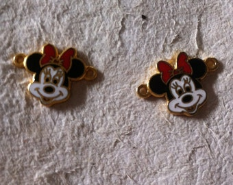 Vintage Minnie Mouse Charm Set of 2