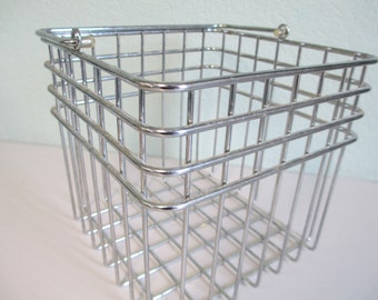 Heavy Metal serving Handled basket for displaying eggs or fruit