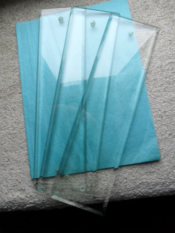 Found In France Beveled Glass Finger Plates Push Plates