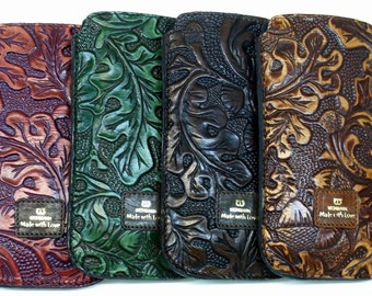 iPhone leather case tooled calf leather