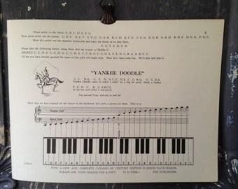 Vintage 1930s Children's Sheet Music