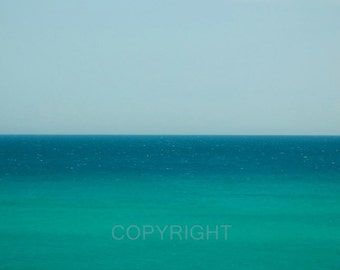 Sea & Sky abstract  - Fine Art Photography Print - 8x8 - Photography - blue turquoise art