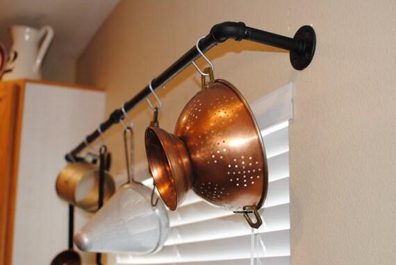 Industrial Pot Rack Plumbing Pipe Industrial Decor Kitchen