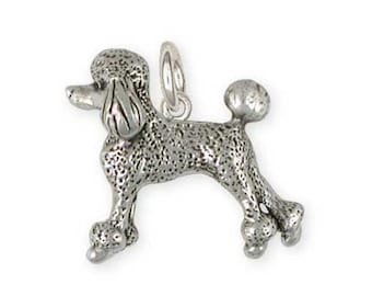 Solid Sterling Silver Poodle Charm Jewelry  PD56-C