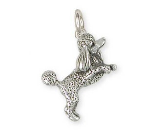 Solid Sterling Silver Poodle Charm Jewelry  PD58-C