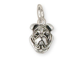Sterling Silver Bulldog Charm Jewelry  BD20-C