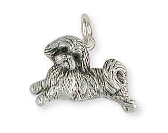 Silver Lhasa Apso Charm Jewelry  LSZ22-C