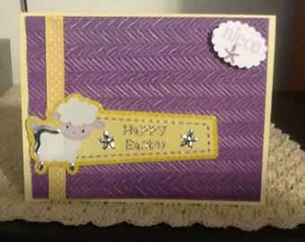Easter Niece Lamb Card E01