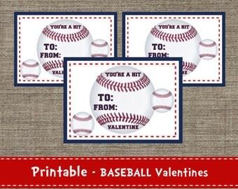 Baseball Valentines - DIY - Printable