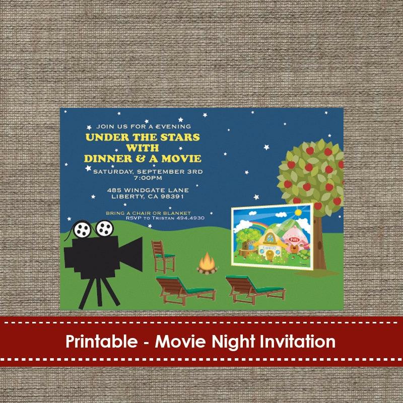 Printable Movie Night Invitations is good invitations design