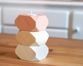 Geometric Wood Candle holders Decoration