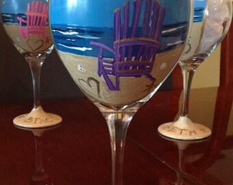 Adirondack Chair Beach Wine Glass