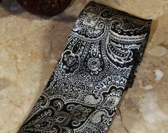 Black & Silver Tie