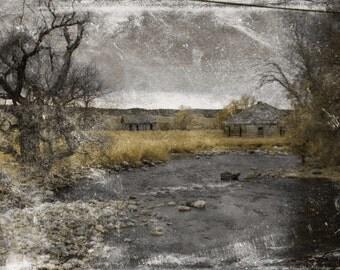 abandoned landscape photography wyoming deserted barn farm 8x10