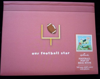 New-HALLMARK  Baby Keepsake Pop-Up Photo Brag Book Our Football Star