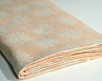 Cotton Fabric - Orange and White Daisies