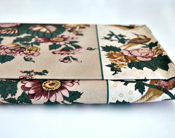 Portuguese Chintz Fabric - Flowers and Beige