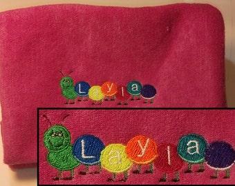 Children's Terry Zipper Bag