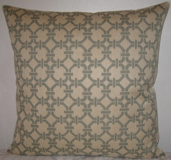 Greek key decorative pillow cover-24x24 inwoven
