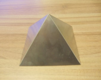 Orgone Aluminium Large Giza / Cheops Resin Casting Pyramid Mold / Mould - 130mm x 130mm Base