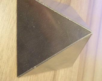Orgone Aluminium Pyramid Mold / Mould - Handmade - 150mm x 150mm base