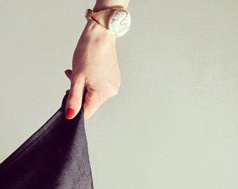White & Gold Clips Bracelet