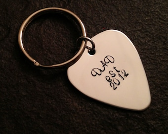 Personalized Dad's keychain Dad est