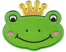 Frog Prince Iron-On Patch Applique - Kids / Baby