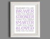 Nursery Art - Winnie The Pooh Nursery Print - Any Color -  Print