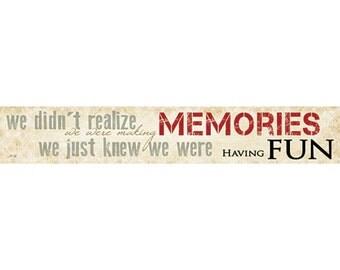 MA527 - Making Memories