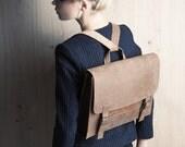 Genuine leather bag, women's retro satchel, brown student backpack, christmas gift, laptop bag, messenger bag, crossbody satchel, handbag