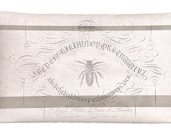 Alphabet Bee on Natural Linen