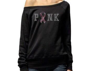 Breast Cancer Fleece Sweater Pink Susan 97