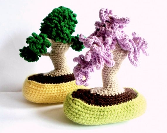 Bonsai Trees BUNDLE Amigurumi Crochet pdf Pattern INSTANT DOWNLOAD