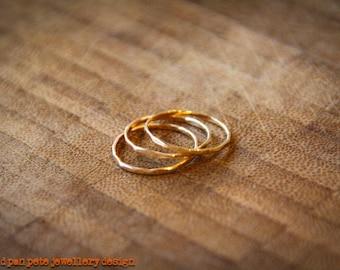 14k Gold Filled Thin Stacking Rings