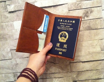 Passport holder with your name - fold edge