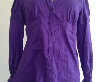 Purple Fitted Vintage Shirt