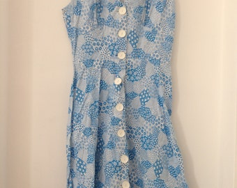Vintage Patterned Floral Dress
