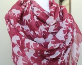Elephant  Print  Infinity  Scarf for  Woman great accessory for your outfit
