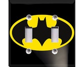 Batman Double Light Switch Plate Cover