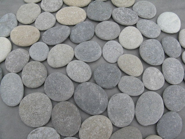75 stones 1 1 2 to 2 wedding stones flat stones guest for Flat stones for crafts