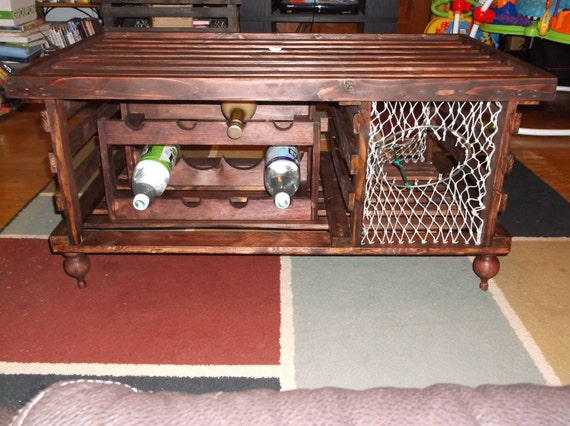 Quot Special Walnut Quot Wooden Lobster Trap Coffee Table Free