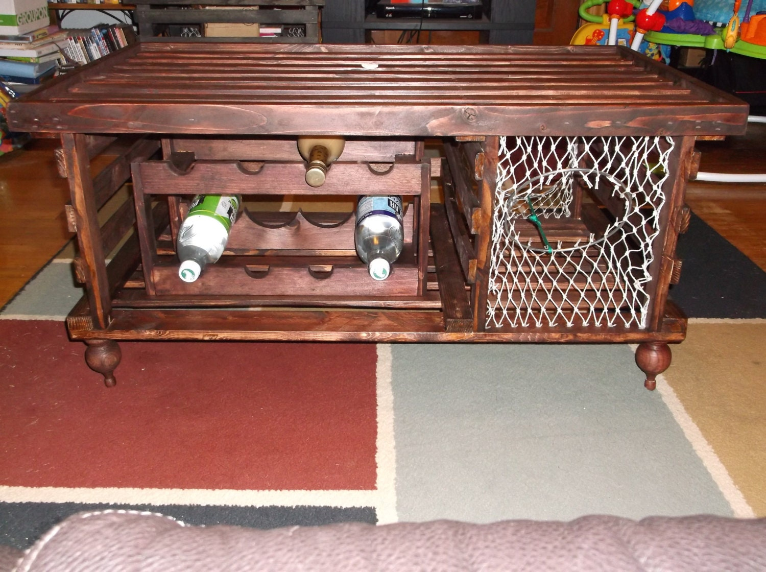 Lobster Trap Coffee Table Wine Rack Made In By Mainelobstertrap