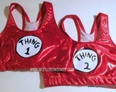 Thing 1 Thing 2  Metallic Sports Bra Set Cheerleading, Yoga, Running, Working Out