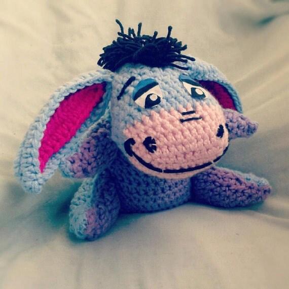 Crochet Amigurumi Eeyore : Items similar to Crocheted Eeyore Amigurumi Medium Sized ...