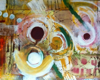 "Abstract Art Acrylic Painting   24"" x 36 x 0.75"""
