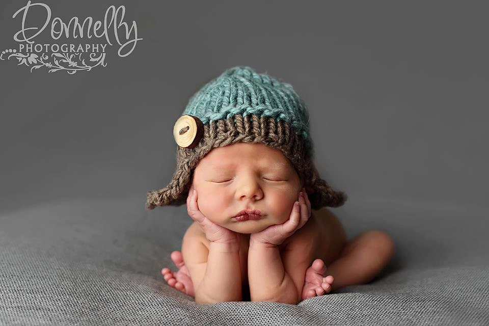 Knitting Photography Props : Newborn knit aviator hat photography props flyer